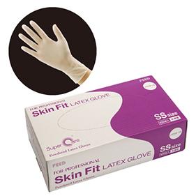 Skin Fit ラテックスグローブ パウダー付