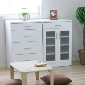 鏡面塗装 ホワイト家具シリーズ