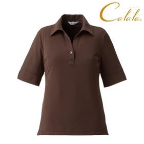 五分袖ニットシャツ