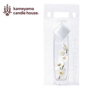 フラワーグラスキャンドルセット スクエアコチョウラン ホワイト
