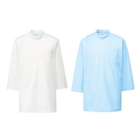 シルポート医務衣メンズ七分袖ジャケット&スラックス