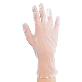 プラスチック手袋パウダー付