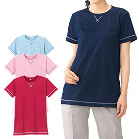 後ろポケット付チュニックTシャツ FY3001
