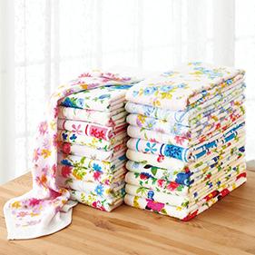 柄おまかせ 花柄タオルセット 20枚組 #200WHP