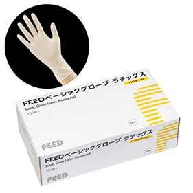 FEEDベーシックグローブ ラテックス パウダー付