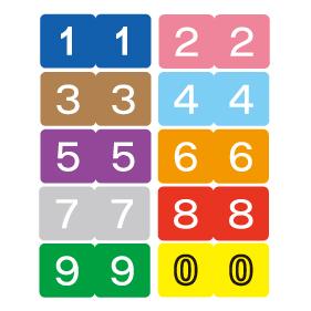 カラーナンバーラベルM